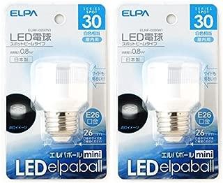 LED スポットビーム(白色相当) 【×2個セット】 E26 ELRF-02B(W)