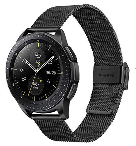 Cinturino per orologio da 20 mm, compatibile con Samsung Galaxy Watch 2, 42 mm, Amazfit Bip Ticwatch2/E/S e tutti i 20 mm, cinturino di ricambio con fibbia magnetica a sgancio rapido