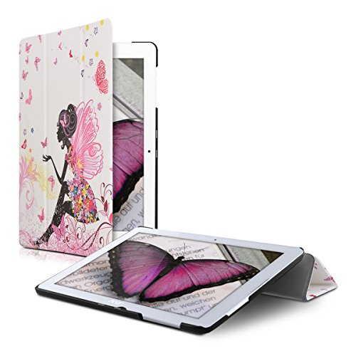 kwmobile Acer Iconia One 10 (B3-A20) Hülle - Smart Cover Tablet Case Schutzhülle für Acer Iconia One 10 (B3-A20) - Fee Mädchen Design Mehrfarbig Pink Weiß