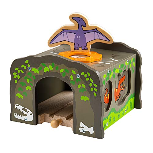 Bigjigs Rail T-Rex Tunnel - Other Major Wood Rail Brands are Compatible