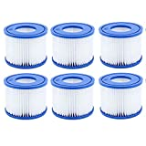 VI Cartucho de filtro para piscina Bestway VI Pool Filter, para Whirlpool Cartucho de filtro de repuesto para piscinas hinchables Lay-Z-Spa Miami, Vegas, para Monaco – Tamaño 6-58323 (6 unidades)