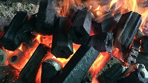 Holzkohle Grillkohle Holzkohlebriketts Grillbriketts - Spitzenqualität 10KG wiederverwendbar geringe Rauchentwicklung 4-5 Stunden Brenndauer