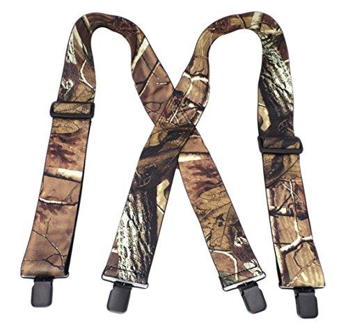 MENDENG Men's 2' Camo Suspenders X Back Elastic...