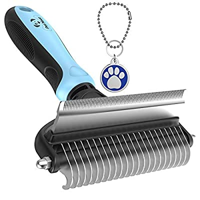 Pet Neat Dog Brush and Cat Brush – 2 Sided Pet Grooming Tool for Deshedding, Mats & Tangles Removing – No More Nasty Shedding and Flying Hair from Pet Neat