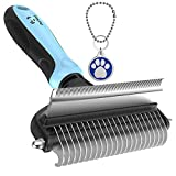 Dog Brush and Cat Brush – 2 Sided Pet Grooming Tool for Deshedding, Mats & Tangles...