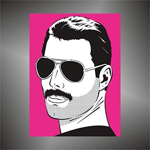 Aufkleber - Sticker Queen Freddie Mercury hip hop rap jazz hard rock pop funk sticker