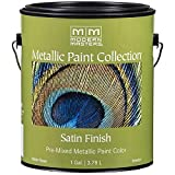 1 gal Modern Masters ME196 Pearl White Metallic Paint Collection Water-Based Decorative Metallic Paint Pack of 1