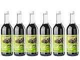 Aroniasaft BIO Direktsaft aus frischen Aroniabeeren 6x750ml - Schwarzen Apfelbeerensaft - Deutsche Landwirtschaft -