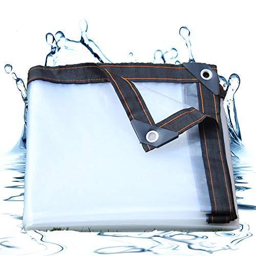 Lonas Impermeables Exterior Transparente, Lona Impermeable Pergola, Extremadamente Resistente de Techado, para...