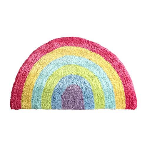 Kitchen mats ENVI Amour Rainbow Tapis de Coton Semi-Circulaire pièce Tapis de Salle de Bain Absorbant Pad Lavage à la Main 50 * 80 cm