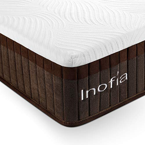 Inofia Mattresses 29cm Memory Foam Spring Hybrid Mattress with LegenComfort Memory Foam,Extraordinary Pocket Coil Technology (29cm, Double)