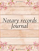 Notary Records Journal: A Notary Book To Log Notarial Record Acts By A Public Notary