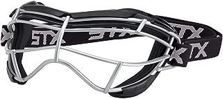 STX Lacrosse Focus-S Goggle, Black/Black