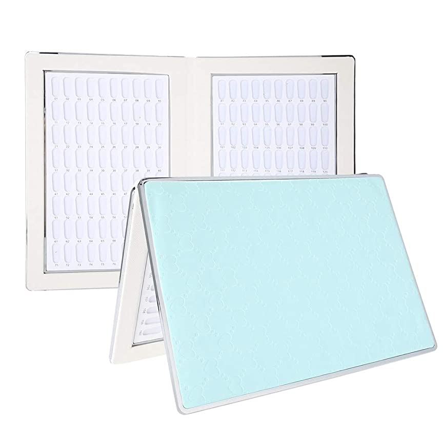 ソーダ水ピック流出ネイルアートディスプレイ 160 ディスプレイスタンド アクセサリー プラスチック板 ネイルポリッシュカラー ディスプレイ サロン (2)