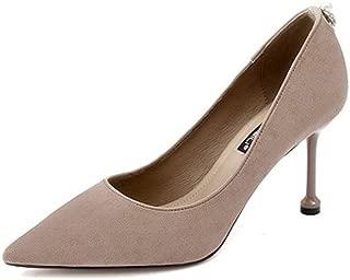 KTYXDE High Heel Women's Stiletto High Heel Women's Shoes Spring and Summer 8.5CM Black Gray Women's Shoes (Color : Gray, Size : EU39/UK6/CN39)