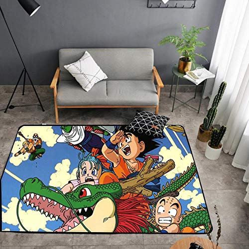 Alfombra de anime Dragon para puerta de piso o dormitorio, antideslizante, diseño de dibujos animados