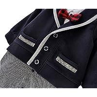 ベビー ロンパース 男の子 かわいい フォーマル スーツ 風 カバーオール (60cm)