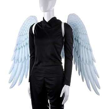 Alas de ángel negro 3D Alas de hadas blancas Disfraz Disfraz ...