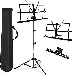 Music Stand, Kasonic 2 in 1 Dual-Use Folding Sheet Music...