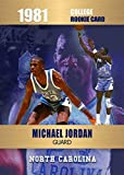 MICHAEL JORDAN Limited Edition Novelty Basketball College Rookie Card Depicting his 1981 College Year - Only 2000 Made - North Carolina
