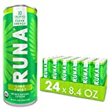 Organic Clean Energy Drink by RUNA, Lime | Refreshing Tea Taste | 10 Calories | Powerful Natural Caffeine | Healthy Energy & Focus | No Crash or Jitters | 8.4 oz (Pack of 24)
