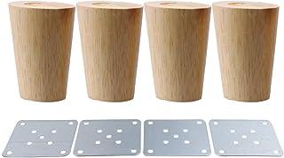 comprar comparacion 80x58x38mm Cone Material de madera Sofá Silla Cama Armario Mesa de té TV Gabinete Muebles de madera Patas de repuesto Pack...