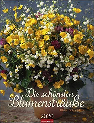 Die schönsten Blumensträuße. Wandkalender 2020. Monatskalendarium. Spiralbindung. Format 30 x 39 cm