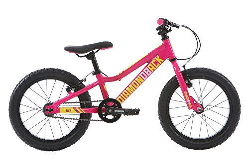 Diamondback Kinder Elios Non-Vibrato Mountain Bike, Kinder, Elios, neon pink