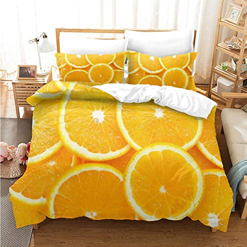 Funda Nórdica Impresa En 3D En Naranja, Textiles para El Hogar De Plumas Extragrandes De Fibra Extragrande, Ropa De Cama Suave, Cómoda Y Transpirable 265 * 230cm