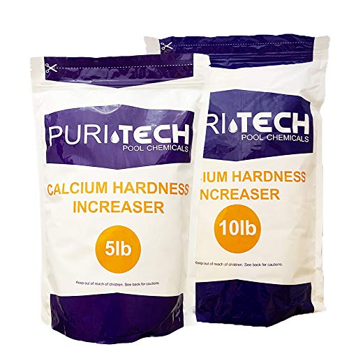 Puri Tech Pool Chemicals 15 lb Calcium Hardness Increaser Plus for Swimming Pools & Spas Increases Calcium Hardness Levels Prevents Staining on Surfaces
