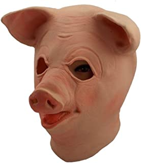 Gmasking 2018 Big Eyes Latex Pig Head Mask Cosplay Costume Props