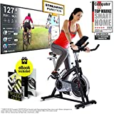 Sportstech Indoor <span class='highlight'>Exercise</span> Bike SX200 -German Quality Brand- Video Events & Multiplayer App, 22KG Flywheel, pulse belt compatible-Speedbike with belt drive-Ergometer up to 125Kg, incl. eBook