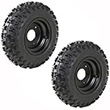WPHMOTO 2 Pack of 4.10-6 Go Kart ATV Tubeless Tire with Rim | Rear Tires Rims for Scooter Quad Bikes 4 Wheelers