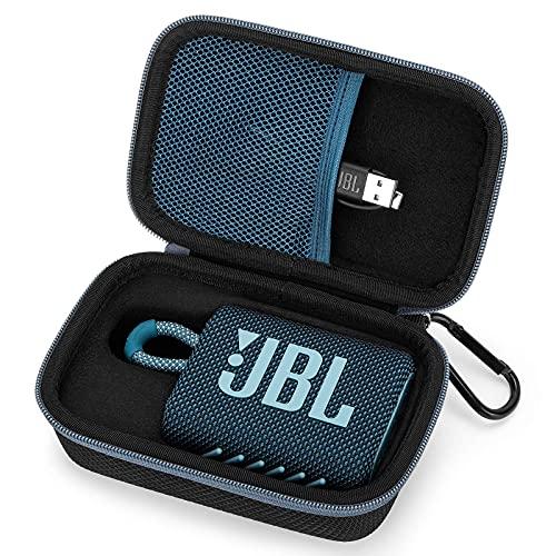 Estuche Funda para JBL GO 3 Altavoz Inalámbrico Portátil con Bluetooth,Bolso de Protección para Altavoces Caja Cubrir para Transporte Rígida (Blue)