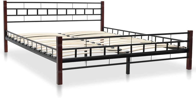 VidaXL Bettgestell Lattenrost 160x200cm Metallbett Doppelbett Schlafzimmerbett