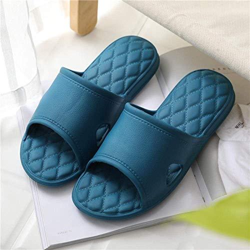 Cxcdxd Zapato de Playa para la Ducha, Zapatillas de baño de Verano para Hombres y Mujeres, Sandalias y Pantuflas insípidas para el hogar con Fondo Suave y silencioso, Azul Marino_41-42