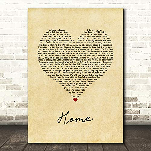 TOLAKA STORE #Edward #Sharpe #& The Magnetic Zeros Home Vintage Heart Song Lyric Print Poster Wall Art Home Decor Gifts for Lovers Painting