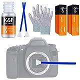K&F Concept-Kit de Limpieza Sensor APS-C 16mm (16 Bastones/Envasados al Vacío)/ 20ml Limpiador Líquido/Guantes Antiestáticos, Pack Limpieza Camara Cleaning Kit para Objetivos/Canon/Sony/Nikon/Sony