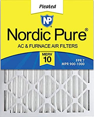 Nordic Pure MERV 10 Pleated AC Furnace Air Filter