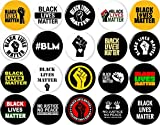 Black Lives Matter 20 NEW 1 Inch (25mm) Set of 20 Pinback Buttons Badges Pins 1' BLM
