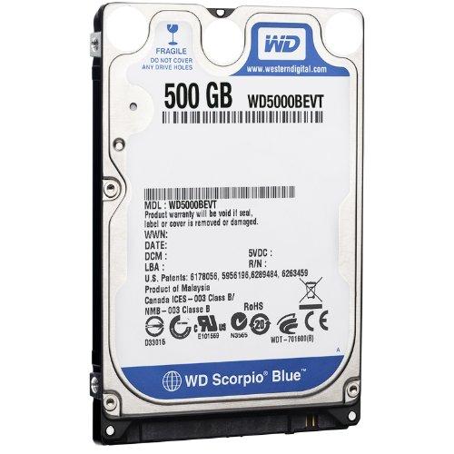 Western Digital WD5000BEVT Scorpio Blue 500GB interne Festplatte (6,4 cm (2,5 Zoll), 5400rpm, 8MB Cache, SATA) Bulk
