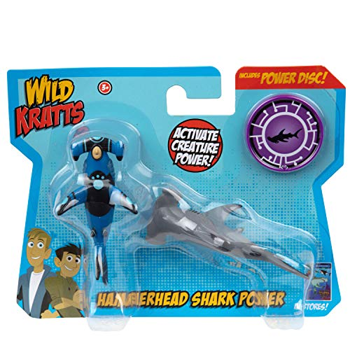 Wild Kratts Toys - 2 Pack Creature Power Action Figure Set - Hammerhead Shark Power - Age 3+