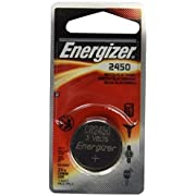 Energizer CR2450 Lithium Battery, 3v ECR2450, 2 PK
