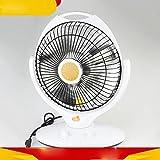 NQ Inicio Ahorro de Energía Pequeño Calentador de Sol Ascensor Sacudiendo la Cabeza Calentadores,Blanco