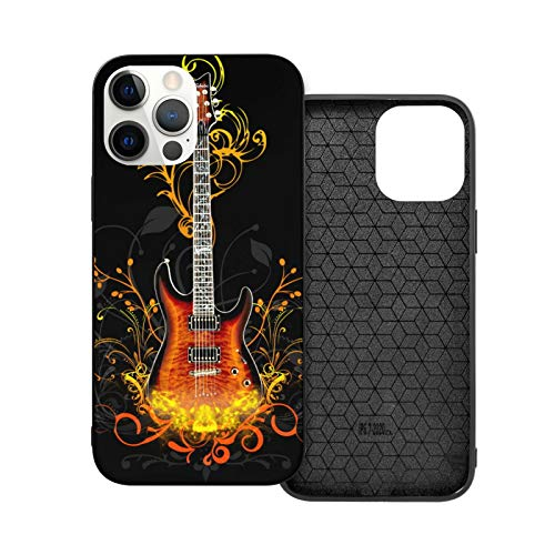 Rock Guitars Wallpaper iPhone 12 Case, Silicon Gel Rubber Protective Case for iPhone 12