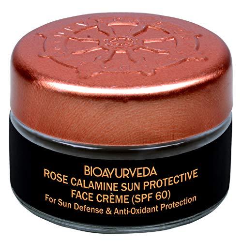 BIOAYURVEDA Rose Calamine Sun Protective Face Cream with Spf 60 Broad Spectrum UVA UVB Protection All Type Skin Care 20gm