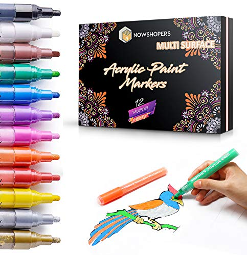 12 bolígrafos de pintura acrílica para vidrio