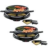 (Set/2) Non-Stick 13' Party Grill & Raclette w/Spatulas - Serves 12 People