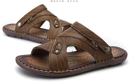 ZIXUAP Chaussures pour Hommes Sandales antidérapantes Chaussures de Plage Sandales et Pantoufles antidérapantes pour Homme