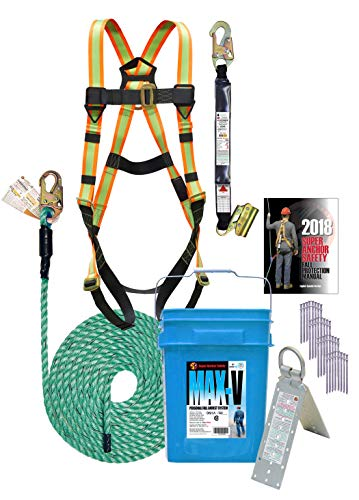 3200-50 Super Anchor Safety MAX-V Fall Protection Kit, 50'